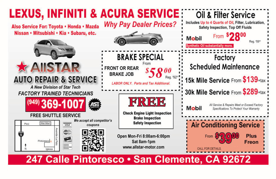 Special offers star tech motors bmw and mercedes for Mercedes benz service discount coupons